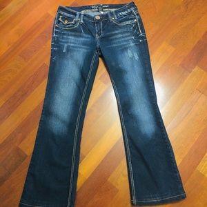 Women's 9/10 Ariya bootcut distressed jeans
